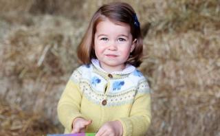 Comparten imagen de la princesa Charlotte por su cumpleaños