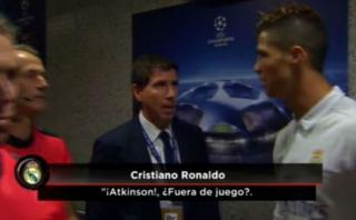 Cristiano fue captado hablando con árbitro sobre gol polémico