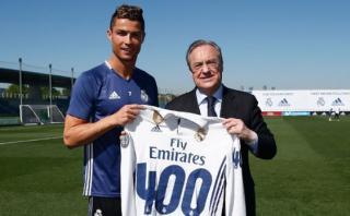 Cristiano, homenajeado por sus 400 goles con Real Madrid