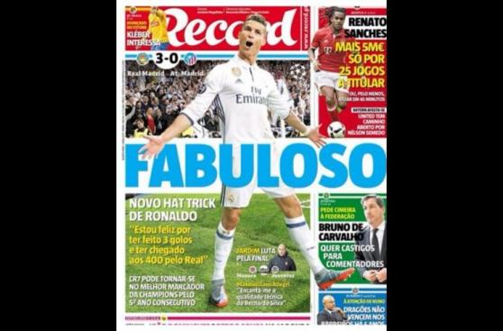Cristiano Ronaldo en las portadas del mundo tras hat-trick