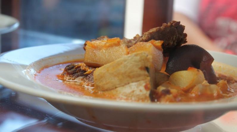 La patasca de El Cacique, uno de los restaurantes más tradicionales de Tacna. (Foto: Alicia Rojas)