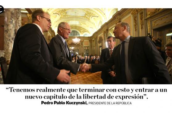 PPK firmó pacto que defiende la libertad de expresión [FRASES]