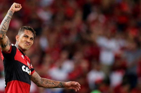 Guerrero y Trauco: euforia y festejo tras goles con Flamengo