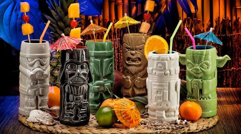 Un set de vasos tiki con los personajes más recordados de Star Wars. Especiales para cocteles y para sorprender a tus amigos. (Foto: ThinkGeek.com)