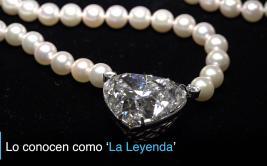 Subastan 'La Leyenda', un enorme diamante con forma de corazón
