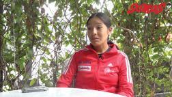 Inés Melchor, la atleta de élite solo tiene tres auspiciadores