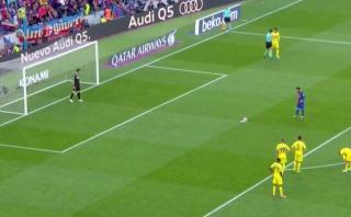 Leo Messi y un nuevo lujo: anotó a lo 'Panenka' ante Villarreal