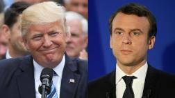 """Trump felicita a Emmanuel Macron por su """"amplia victoria"""""""