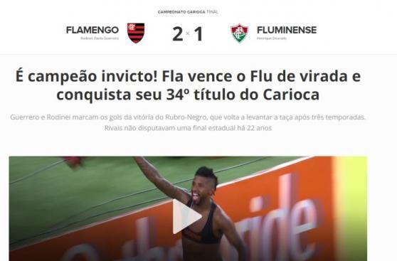 Guerrero-Trauco: portadas brasileñas sobre título de Flamengo