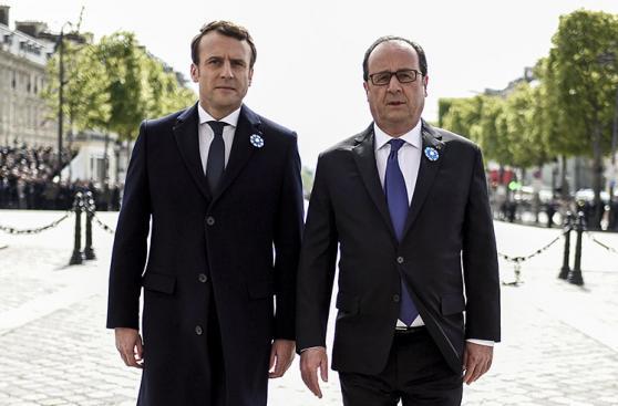 Francia: Primer acto público de Macron como presidente electo