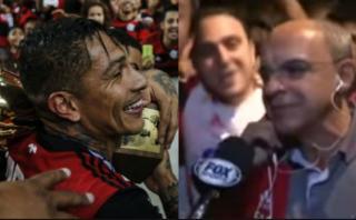 Presidente de Flamengo rindió homenaje a Guerrero con cántico