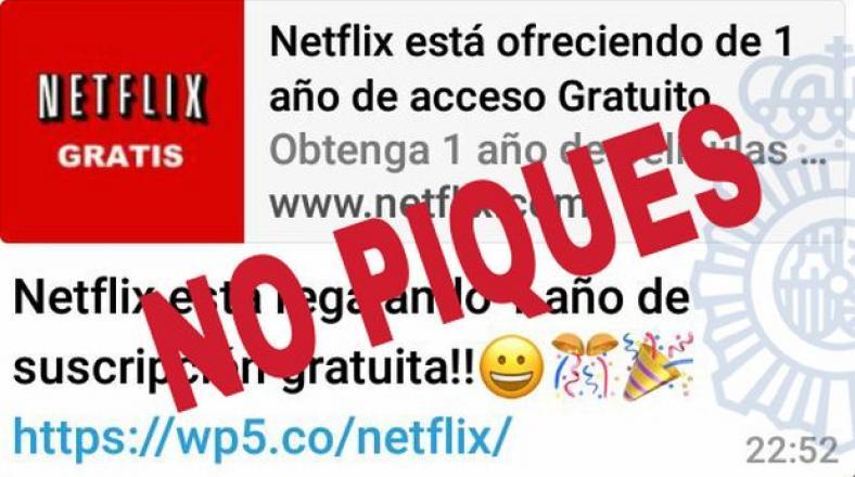 WhatsApp: circula estafa que ofrece 1 año gratis de Netflix