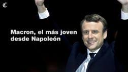 Macron, el presidente más joven de Francia desde Napoleón