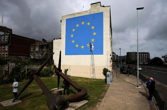 Banksy retrata el Brexit en un nuevo mural