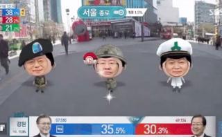 Así anuncia la televisión de Corea del Sur su nuevo presidente