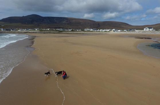 La playa en Irlanda que resucitó 33 años después de desaparecer
