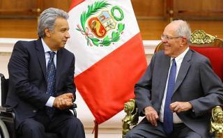 PPK se reunió en Palacio con presidente electo de Ecuador