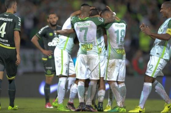 Atlético Nacional campeón de la Recopa: goleó 4-1 a Chapecoense