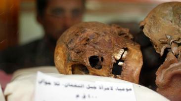 Las momias milenarias amenazadas por la guerra en Yemen