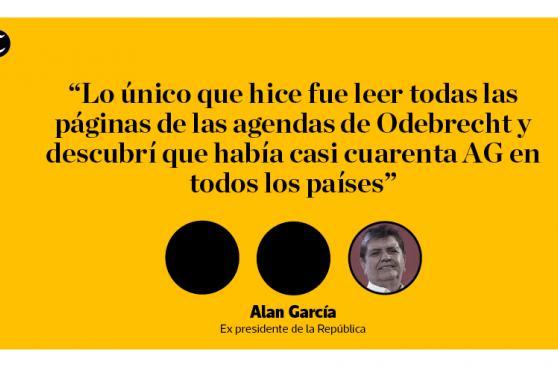 Alan García: sus polémicas frases sobre Odebrecht y Fujimori