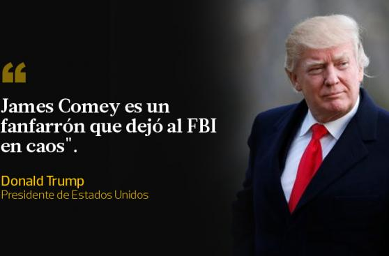 Donald Trump: Sus dardos contra el ex director del FBI