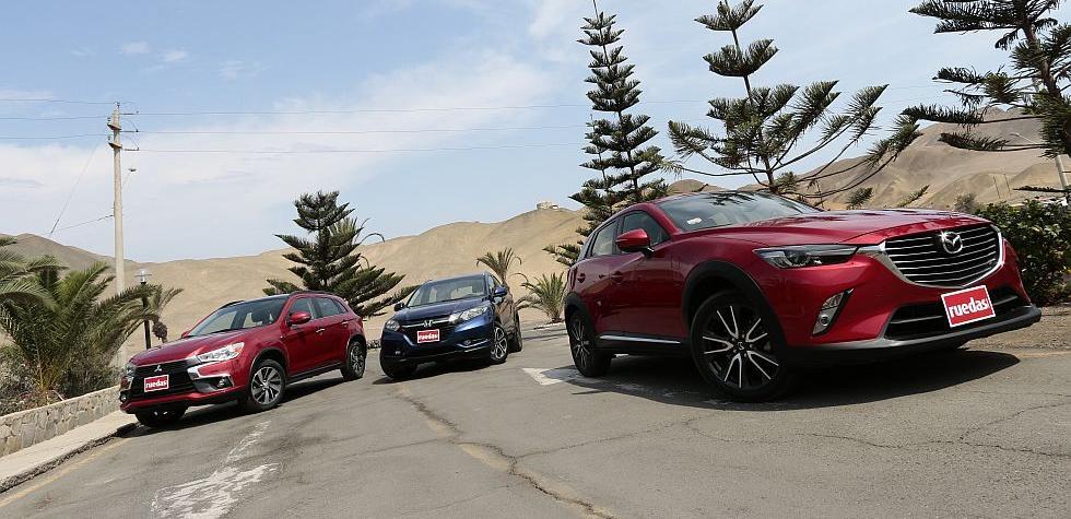 Duelo de SUV's: Honda HR-V vs Mazda CX-3 vs Mitsubishi ASX