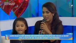 Día de la Madre: Karen Dejo mostró a su hija en televisión