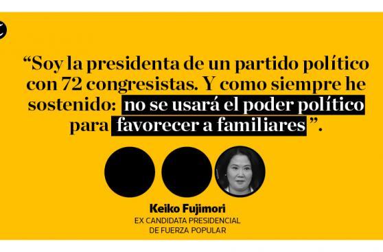¿Qué dijo Keiko Fujimori sobre situación de su padre? [FOTOS]