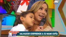 Sofía Franco terminó conmovida con sorpresiva visita de su hijo