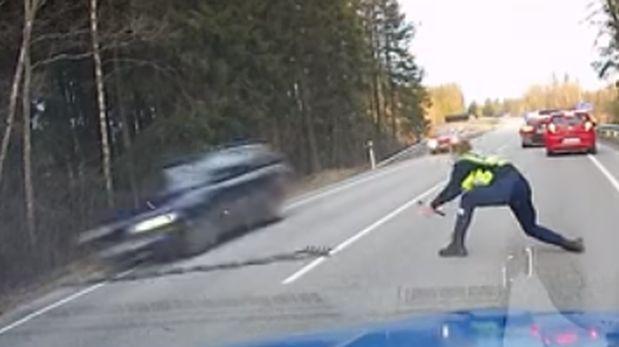 Rápida intervención policial ayudó a detener infractor [VIDEO]