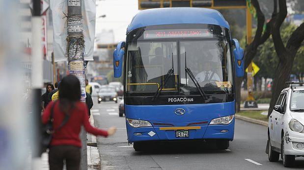 Corredor Azul: buses desvían recorrido por evento en Miraflores