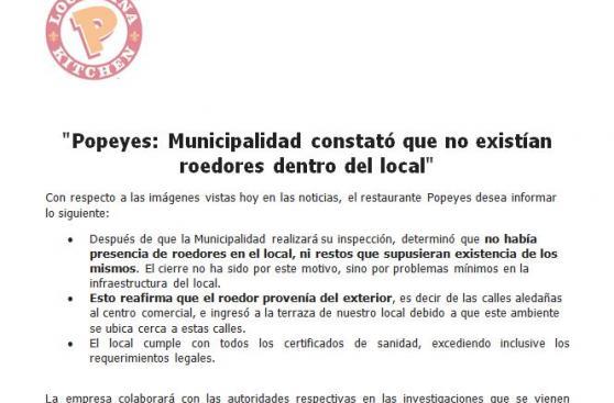 Municipio de Lima clausuró local de Popeye's del Centro Cívico
