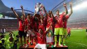 André Carrillo: los festejos del Benfica por el tetracampeonato