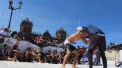 Cusco: luchadores de jiu jitsu tomaron la plaza mayor [FOTOS]