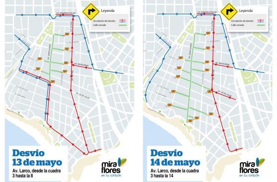Miraflores: Av. Larco será cerrada hoy por evento deportivo