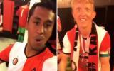 Tapia y Kuyt bailan en el camerino por título de Feyenoord