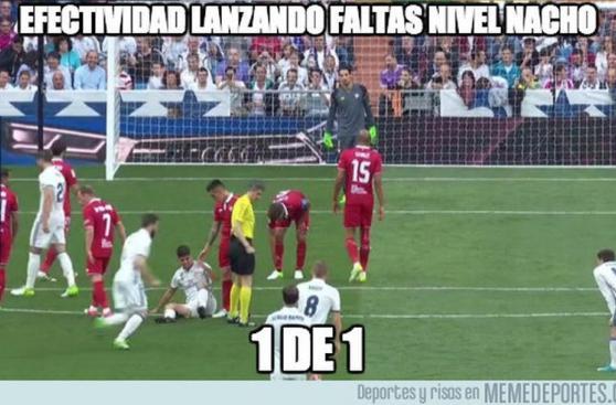 Real Madrid derrotó a Sevilla pero no se salvó de memes
