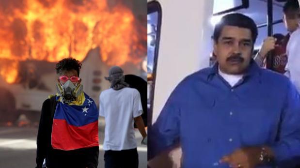 Maduro repone autobús a chofer que lo perdió en manifestaciones