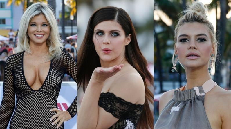 """""""Baywatch"""". Algunas de las actrices que pasaron por la alfombra roja de Miami Beach. (Fotos: AFP)"""
