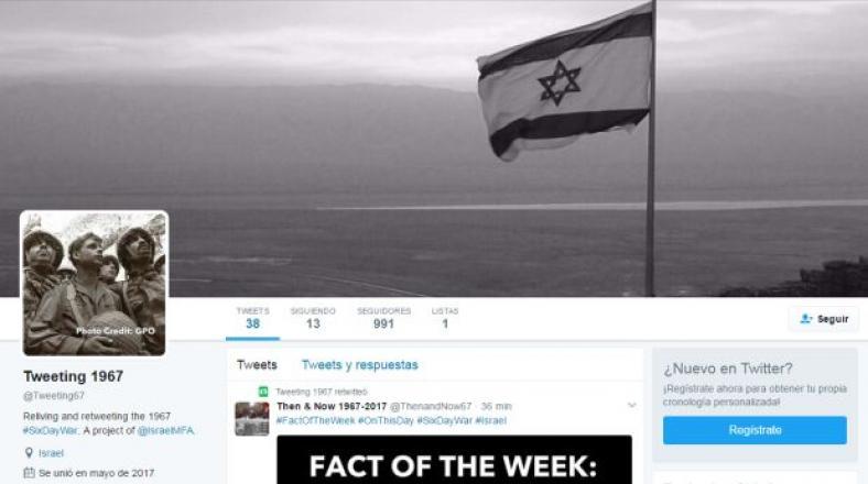Israel revive la Guerra de los Seis Días en Twitter
