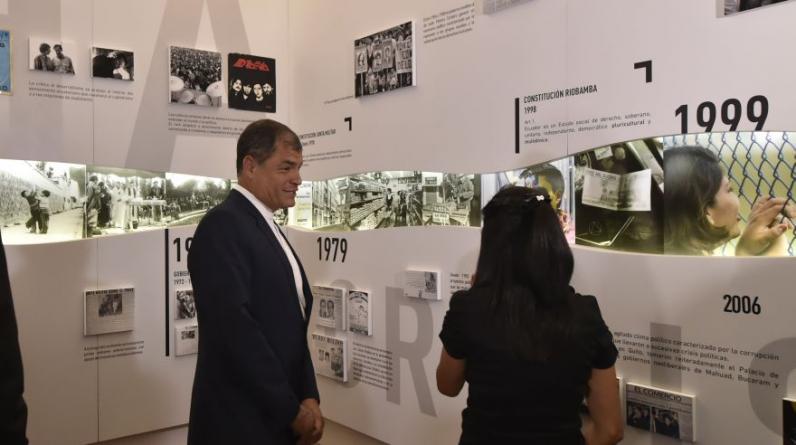 El presidente de Ecuador, Rafael Correa, inauguró el lunes un museo en la casa de gobierno en Quito con obsequios que recibió durante su mandato. (Foto:AFP)