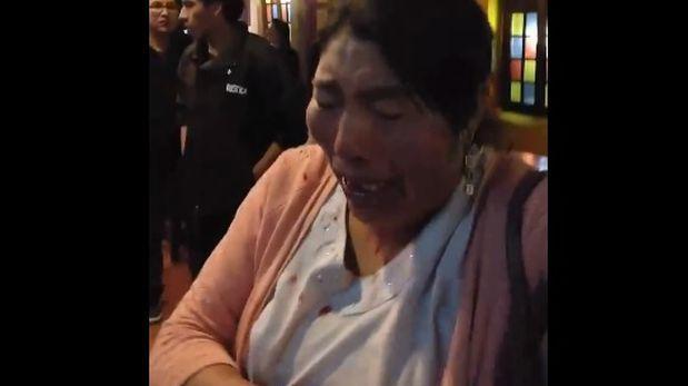 Indignación en Juliaca por agresión a mujer en centro comercial