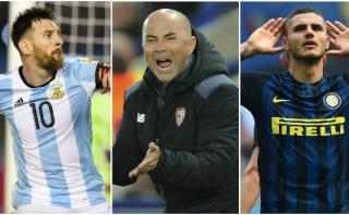 Sampaoli llamaría a Messi e Icardi en primera convocatoria