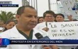 INEN: médicos realizaron plantón por falta de presupuesto