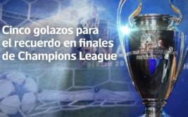 Champions League: cinco golazos para el recuerdo en finales