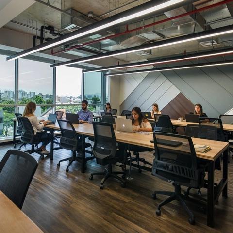 Escritorios dedicados: Un lugar fijo de trabajo donde se puede compartir el ambiente con otras personas.