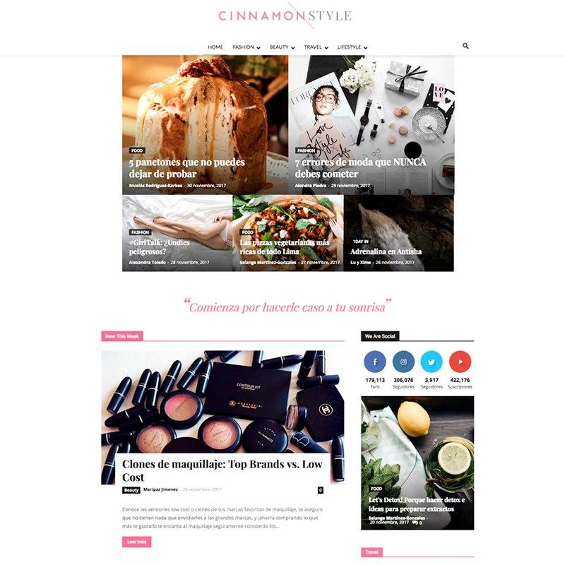 Es una revista digital de lifestyle que tiene contenidos basados en los intereses de Natalia. Las secciones son fashion, beauty, travel y lifestyle.