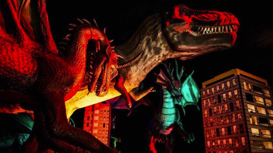 1. Dinosaurios & Dragones Gigantes. La atracción reúne a más de 40 figuras a escala, con movimiento, junto con actividades y cuadros 3D. Ingreso desde los 2 años de edad.