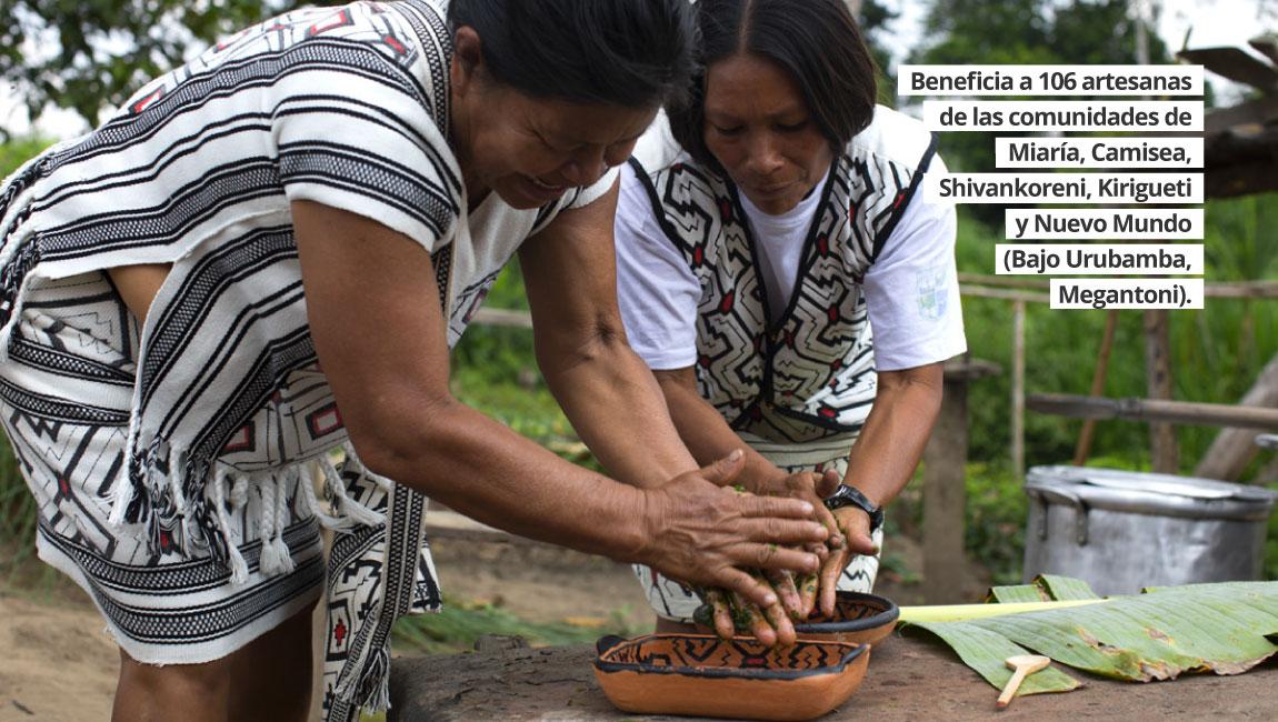 Un día de aprendizaje en el Programa de Apoyo al Desarrollo de la Artesanía Yine y Matsigenka.