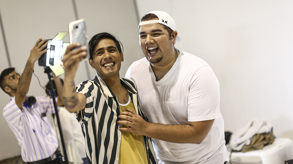 Gerardo Vásquez 'Gerardo Pe' y Francisco Landa 'Franda' no solo la rompen haciendo videos en YouTube, sino que disfrutaron de la sesión de fotos.